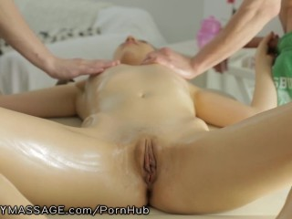FantasyMassage Young Russian Fully Serviced by 2 Dicks