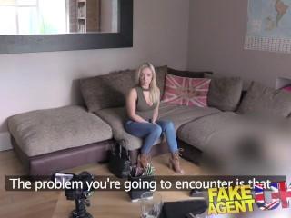 FakeAgentUK Petite Scottish stripper gets deep pussy fucking in casting