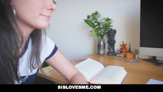 SisLovesMe - Sis Offers BIG Ass For Schoolwork  smalltits butt step-sister sislovesme stepsis gia page step-siblings step-brother trimmed booty cumshot cim