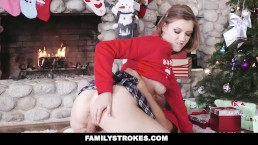 FamilyStrokes - Step-Sis fucked me during family Christmas pictures