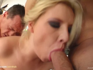 Nora gets a creampie after sex at All Internal