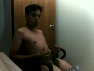 Latino Twink Solo Hand Job Cum in front of the webcam
