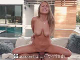 Passion-HD – New years fireworks by the fireplace with Kendall Kayden