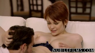 NubileFilms - Intimate Roughness With Bree Daniels  babe big-cock eating-pussy big-tits redhead nubilefilms blonde cunnilingus skinny natural-tits rough orgasm doggystyle romantic sex hot-sex for women hard fast fuck