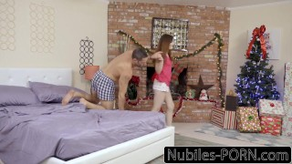 Preview 1 of Nubiles-Porn His Gift Is Riley Reid & Hot Threesome