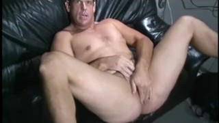 Preview 1 of Busty brunette hottie bangs her man with a massive sex toy