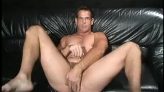 Preview 2 of Busty brunette hottie bangs her man with a massive sex toy