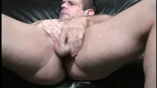 Preview 5 of Busty brunette hottie bangs her man with a massive sex toy