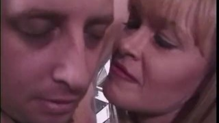 Preview 5 of Two ravishing blonde bints whip a horny stallion in the dungeon