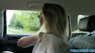 PublicAgent Sexy teacher fucking in a car  outdoors outside point-of-view sex-for-cash amateur cumshot public pov real camcorder sex-for-money reality publicagent teacher sex-with-stranger