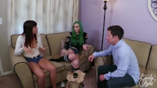 Anal Delinquent: Babysitters Blackmailed Taurus & Raquel Roper Laz Fyre  ass fuck taurus angel raquel roper lady fyre tattooed teen tattoo babysitter daddy small tits anal sex atm 3some alt girl threesome laz fyre green hair ass to mouth inked