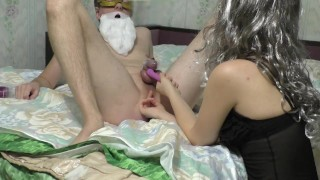 Christmas sweet anal orgasm for my husband (FEMDOM MILKING)  femdom orgasm denial tease and denial amateur anal prostate massage orgasm denial chastity tease prostate milking femdom milking cuckold prostate orgasm edging anal orgasm chastity slave chastity femdom edging handjob femdom ass worship