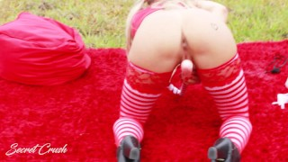 Dear Santa, I Can Explain...  teen tease outside dildo sexy pov toys petite rough piss anal enema secretcrush christmas squirt