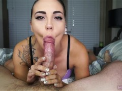 Beautiful Cocksucker Makes Cock Cum Twice