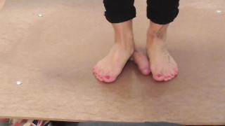 cockcrush barefeet cockplay cockbox cumshot cbt cock-trampling cock-trample trample trampling cock-crush step-on-dick footplay footjob