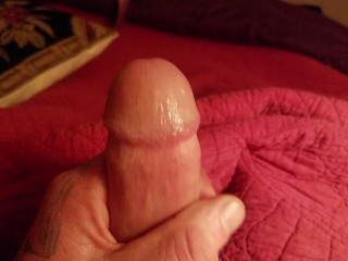 Guy stroking a strong cock Big Christmas Cumload