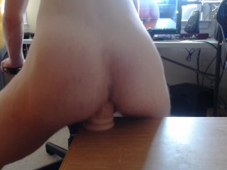 my hole wrapping around a dildo as i ride