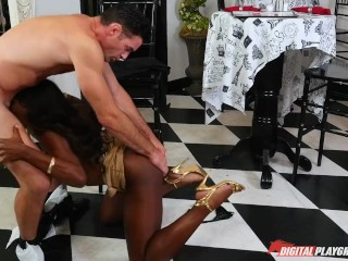 DP Star 3 - Hot Ebony Former Model Ana Foxxx Deep Throat Blowjob