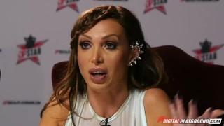 Preview 2 of Nikki Benz & Tori Black judging girls blowjob skills in DPStar Season 3 Ep4