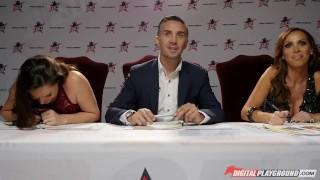 Preview 5 of Nikki Benz & Tori Black judging girls blowjob skills in DPStar Season 3 Ep4