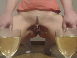 Pee in twoo goblet - special happy new year