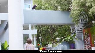 Preview 1 of TeenPies - Hot Brunette Creampie By Neighbor