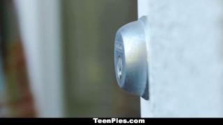 Preview 3 of TeenPies - Hot Brunette Creampie By Neighbor