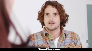 Preview 6 of TeenPies - Hot Brunette Creampie By Neighbor