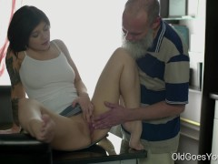 Old Goes Young – Sexy brunette Gerra and her man