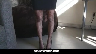 Preview 3 of Sislovesme - StepSis Does Magic Trick With Her ASS