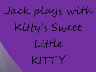 Jack plays with his Kittys