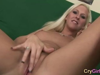 blondie crying after solo orgasm
