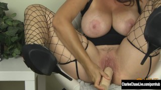 Preview 6 of Big Tit MILF Charlee Chase Stuffs Her Pussy