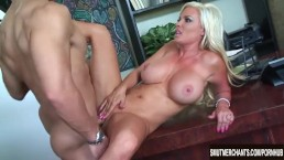Sexy Blonde MILF fucked