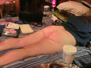 He gives me hardcore spanking then makes me squirt!