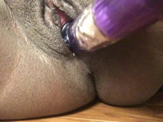 Purple Rabbit Pleases Plump Clit