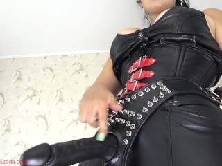 Suck My cock, leather boy!