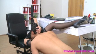 FemaleAgent American stud cums on sexy blonde agents face audition agent hardcore sexy amateur blowjob blonde office cumshot jay smooth femaleagent orgasm reality casting pussy-licking hd czech