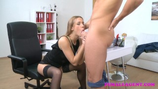 FemaleAgent American stud cums on sexy blonde agents face  agent pussy-licking hd audition sexy amateur blowjob blonde cumshot femaleagent casting hardcore office jay smooth reality czech orgasm