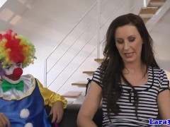 British glam mature cocksucking lucky clown