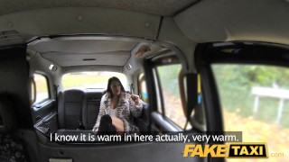 FakeTaxi Infamous John fucks taxi fan hard  oral point-of-view dirty sexy amateur blowjob public pov camera faketaxi rimming spycam car brunette reality rough
