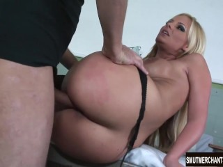Beautiful MILF fucked hard and mouth full of cum