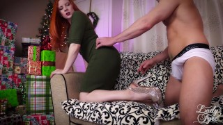 Preview 2 of Creampie Cuckolding -Cucky Christmas by Lady Fyre Femdom POV Humiation