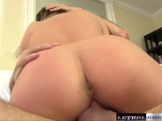 Christina gets a good fuck and swallow fat load after a deep massage