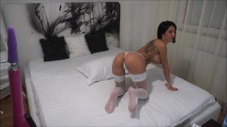 Anisyia livejasmin white lingerie m..