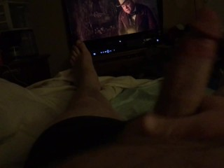 Jerking my dick while watching Gangs of New York!