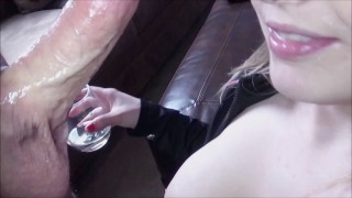 Preview 2 of Drunk & Milking His Cum Into My Wine, Fun Double Cum Loads Swallow B2B POV!