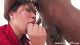 Preview 3 of Asian schoolgirl London loves some big black cock