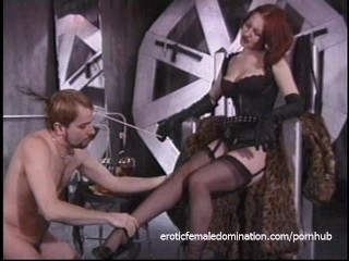 Stunning redhead looker enjoys whipping her extremely horny lover sensually
