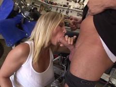 Big tits MILF Devon Lee gives her sons friend a blowjob